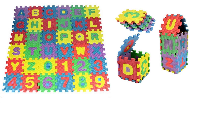 36 Pieces Kids Children Eva Foam Puzzle Mats Educational