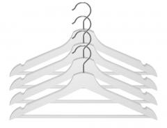 (Pack Of 8) High Quality Wooden Hanger White
