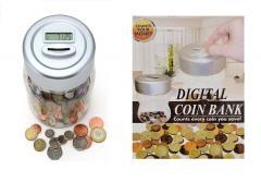 Kids Children's Digital Coin Counter LCD Display Jar Sorter Money Box Money Box
