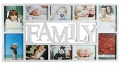 10 Photo Plastic Frame White