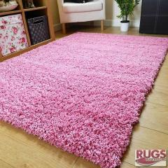 120 x 170cm Shaggy Rug 5cm Thick (Pink)