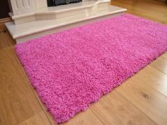 80 x 150cm Shaggy Rug 5cm Thick (Pink)