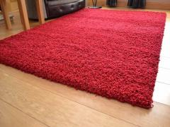 80 x 150cm Shaggy Rug 5cm Thick (Red)