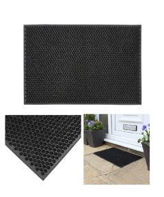 Black Rubber Condor Mat Classic Astro Turf-Look Entrance Scraper Door Mat - 40 x