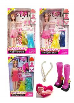 Girls Doll Fashion Play Set Accessories Jewllery Clothes Toy Gift Princess