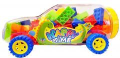 Kids 120 Pcs Large Plastic Building Blocks in Transparent Car-shape Bottle