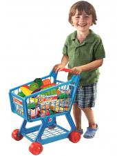 Kids Childrens Shopping Trolley Cart Role Play Set Toy Pink/Blue