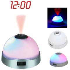 LED Magic Color changing Projection Alarm Clock Rainbow Color