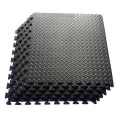 Large  Black EVA Foam Interlocking Anti-Fatigue Exercise Tile Mat Yoga Gym Mats