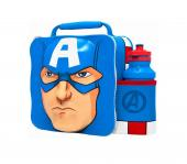 Modern 3D Lunch Bag With Bottle (Captain America)