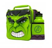 Modern 3D Lunch Bag With Bottle (Hulk)