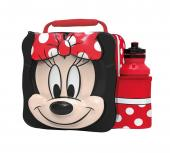 Modern 3D Lunch Bag With Bottle (Minnie Mouse)
