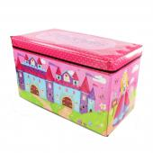 Kids Children's Princess Toy Storage Box Folding Chest Room Tidy Box