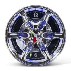 Neon Wheel Rim Wall Clock Ideal For Home Office Garage Car Showroom