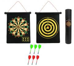 Portable Dart Board Roll-Up Magnetic Dartboard Game Quality Kids Play Double Sid