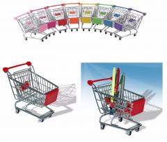 Stainless Steel Mini Wire Shopping Utility Trolley