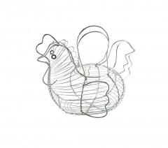 Stylish Chicken Shape Chrome Egg Basket