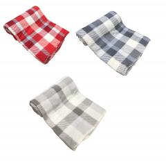 Tartan Fleece Winter cosy classic Tartan Check Fleece Throw Blanket 120 X 150cm