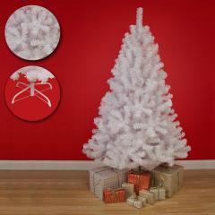 White Artificial Pine Christmas Tree Spruce With Metal Stand (150cm/1.5m/5ft)