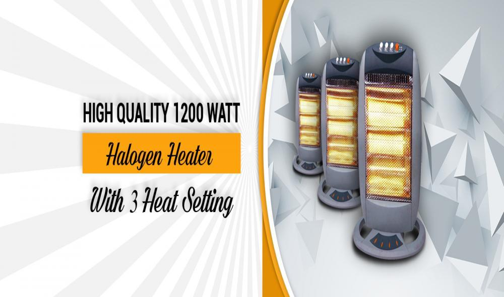 High Quality 1200 Watt Halogen Heater With 3­ Heat Setting
